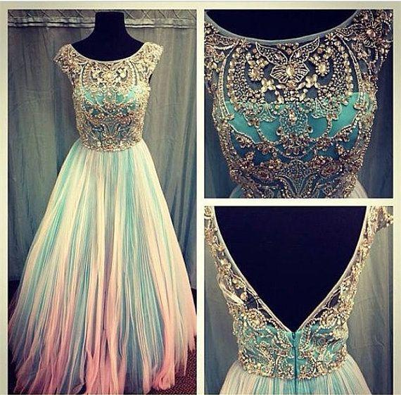 Long Prom Dress ALine Prom Dress Chiffon Prom by StunningDress, $179.99