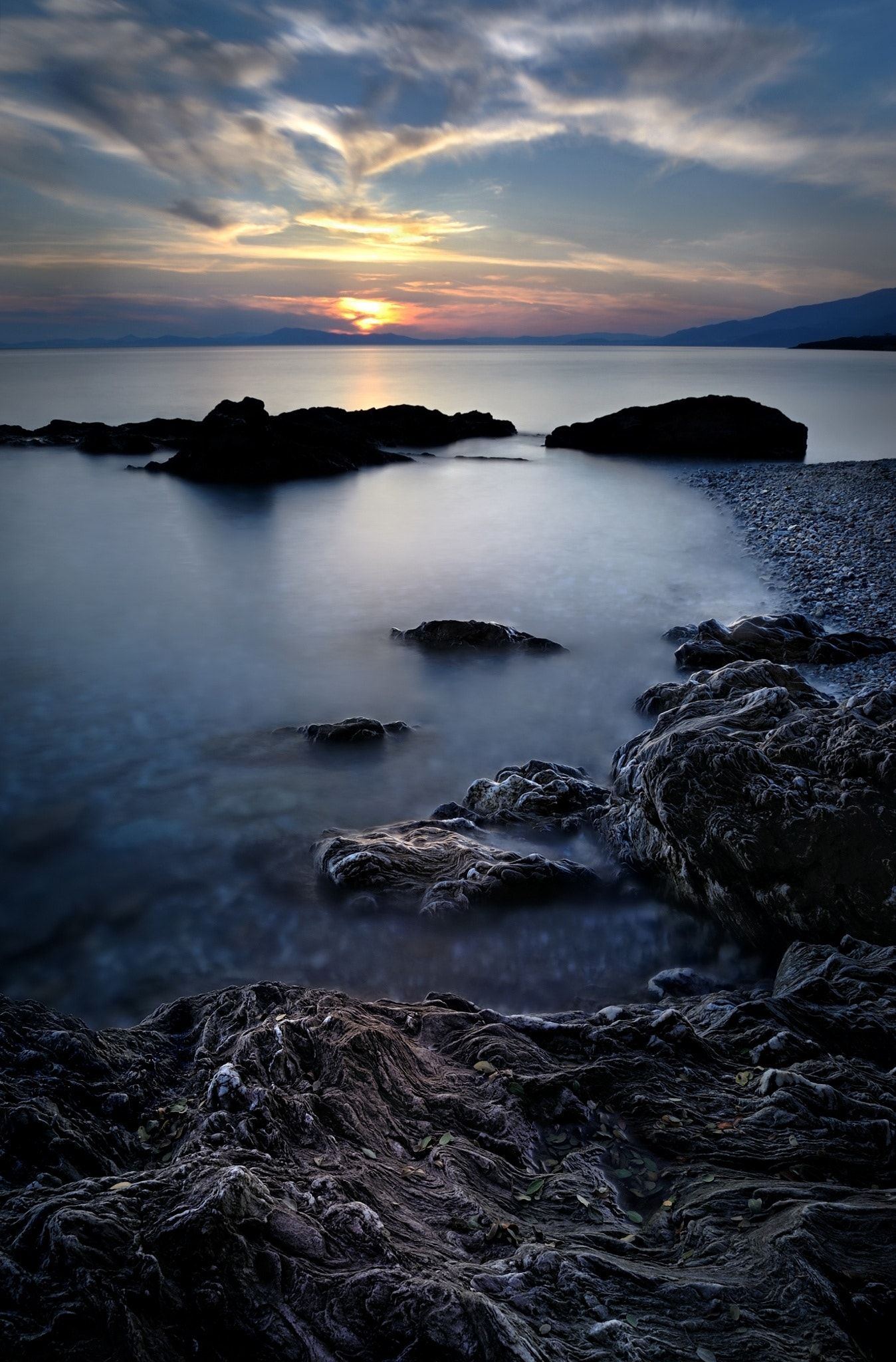 sunset at the rocks - )