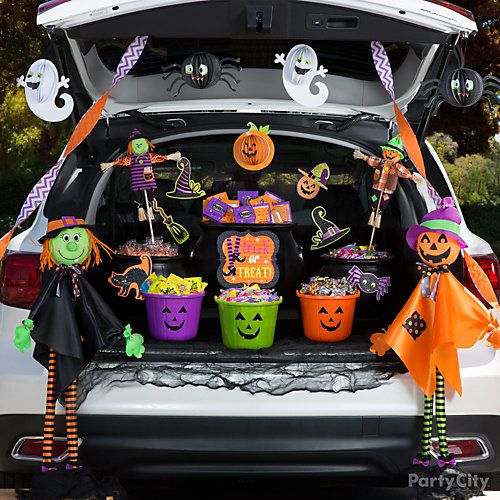 Spooky Cute Trunk or Treat Idea Trunk or Treat Decorating Ideas - how to decorate your car for halloween
