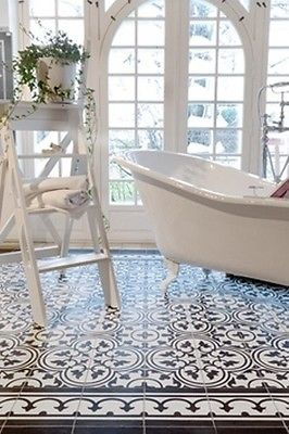 8X8 Bathroom Design 8X8 Encaustic Cement Concrete Decorative Moroccan Victorian