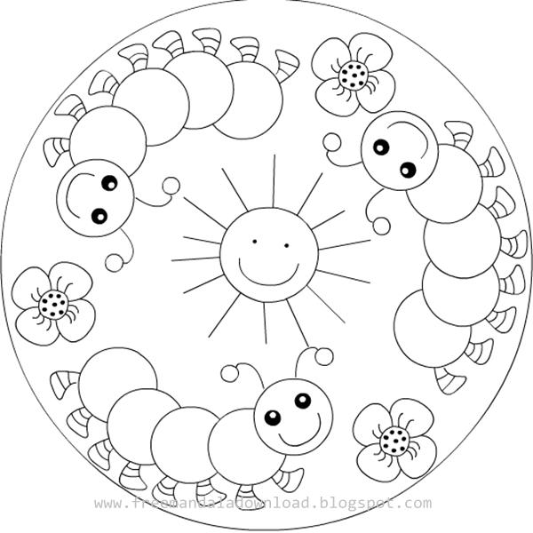 mandala malvorlagen für kinder free mandala kinder mandala