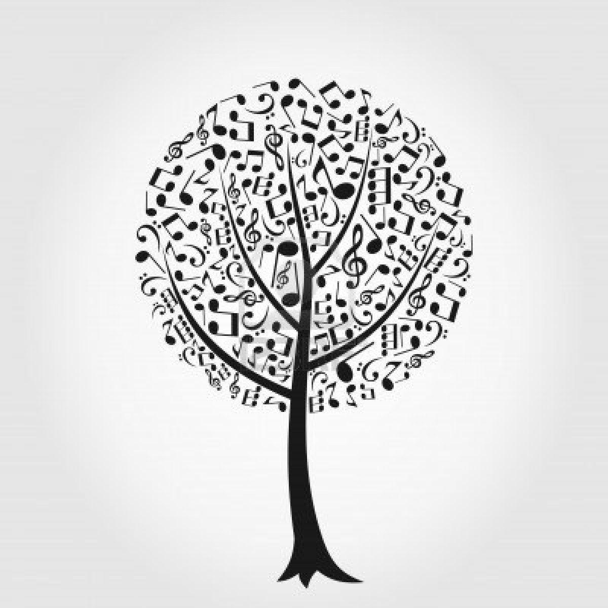 Abstract Art Music Tree