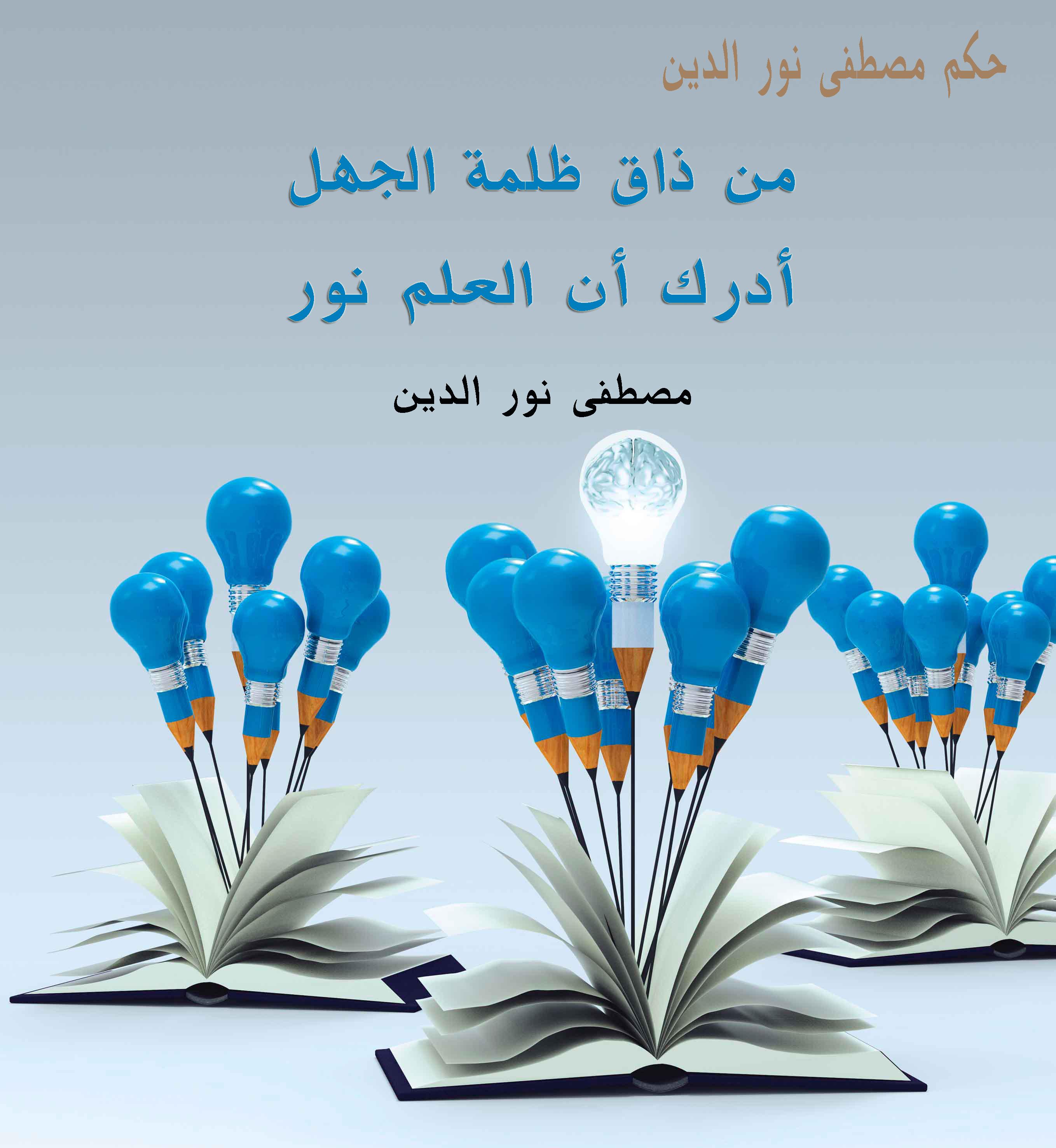 حكم عامة من ذاق ظلمة الجهل أدرك أن العلم نور مصطفى نور الدين Poster Manners