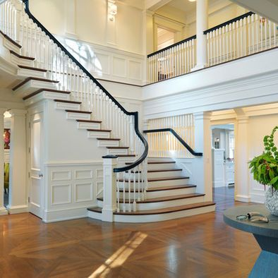 Best Entry Halls Main Stairs Traditional Staircase 400 x 300
