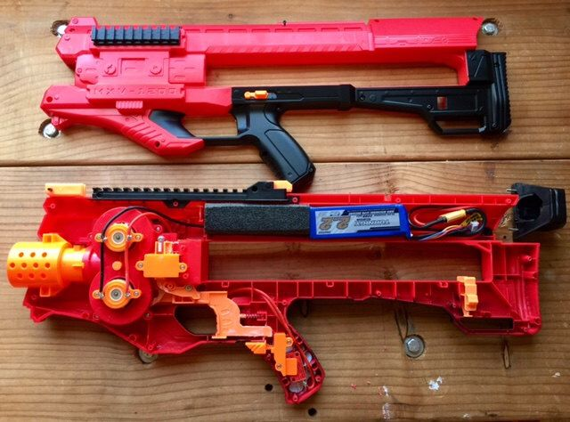 Nerf Rival Zeus Modified Blaster (LiPo Battery Not Included) by  GemStateBlasterCo on Etsy https
