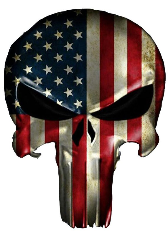 d12175a160b American Flag Punisher Contour Cut Decal Stickers Skin Tear Tattoo