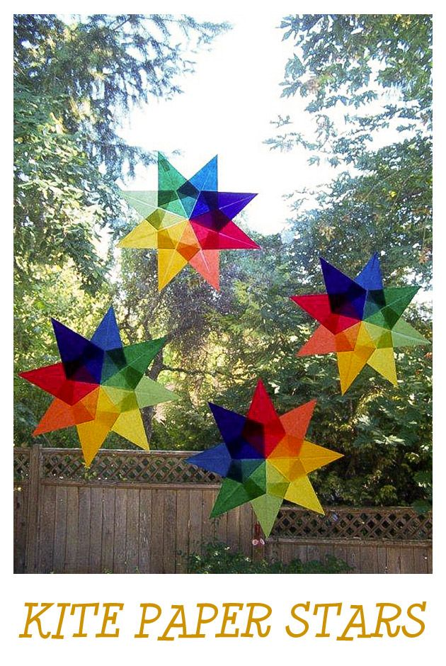 Crafts For Kids Kite Paper Stars Ideas For Children Pinterest