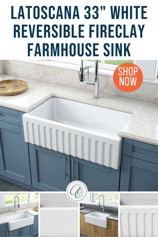 fireclay farmhouse sink smooth
