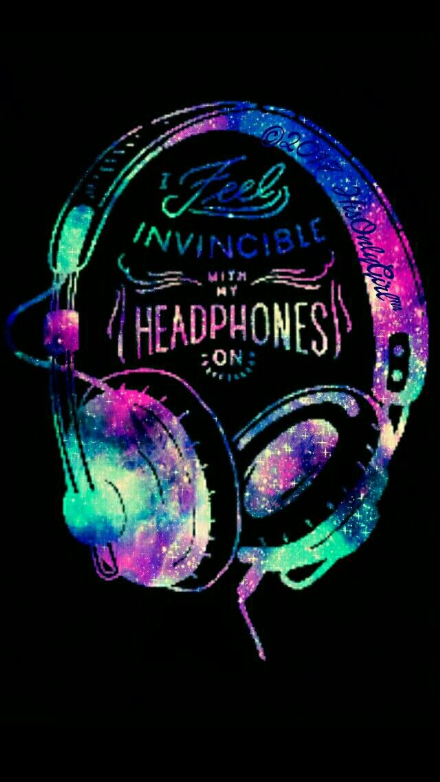 Invincible headphones iPhone/Android galaxy wallpaper I created for the app CocoPPa. | Fondos ...
