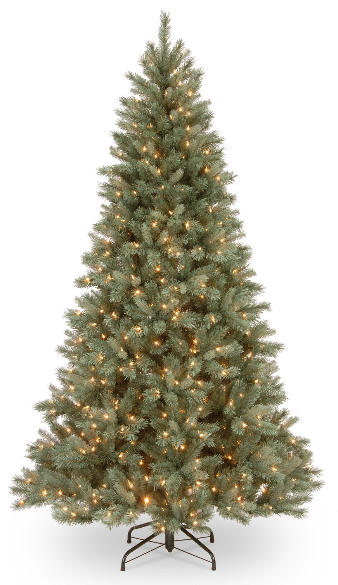 harrington 75 green spruce artificial christmas tree with 550 clear lights - Blue Spruce Artificial Christmas Tree