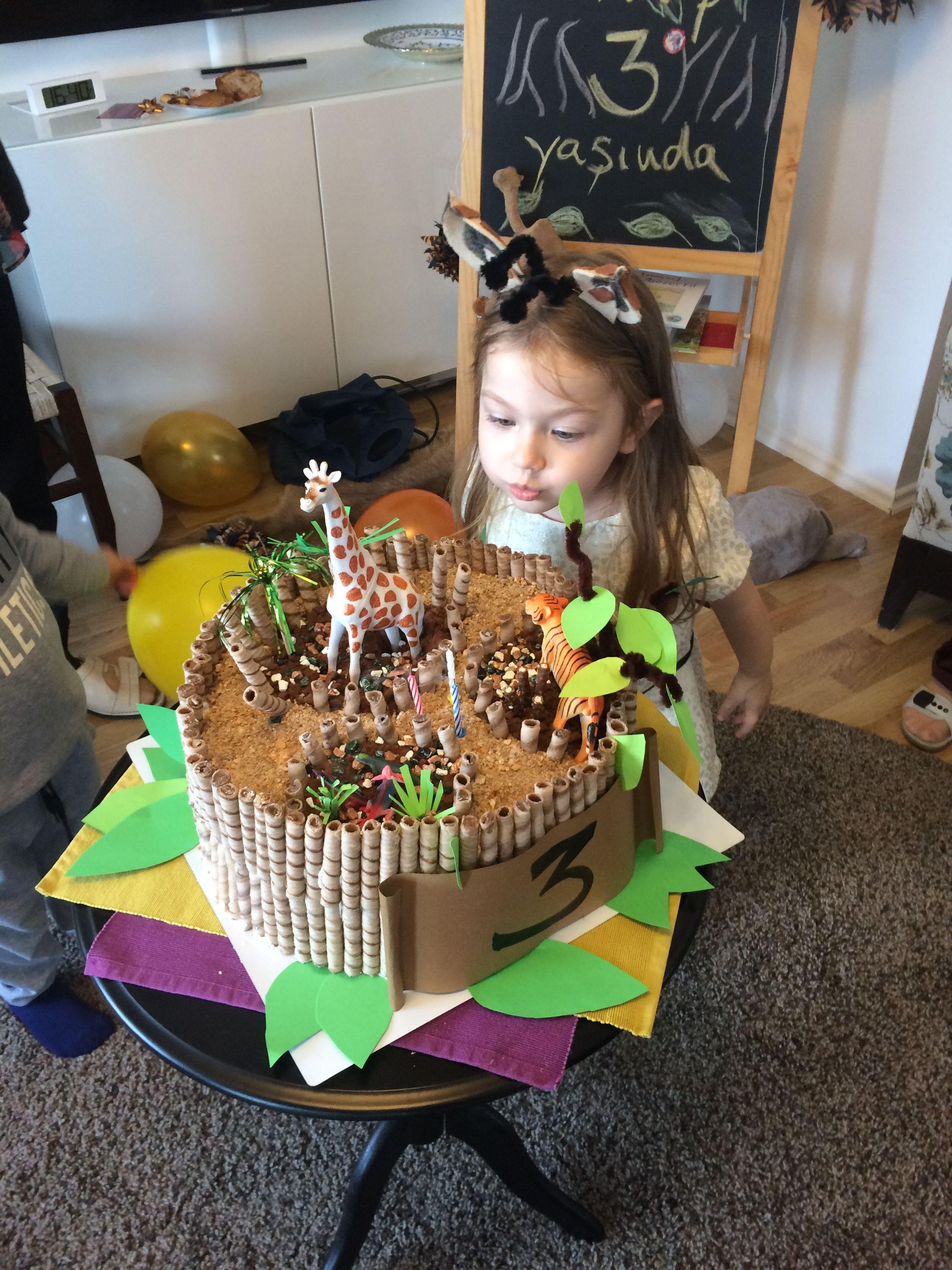 Zoo Party Giraffe Birthday Girl Birthday Cake Zoo Theme Birthday