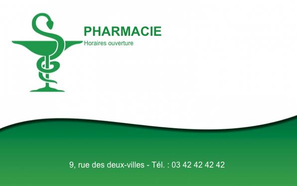 Grande Carte De Visite Pharmacie Crez Gratuitement Partir Modle En Ligne Votre