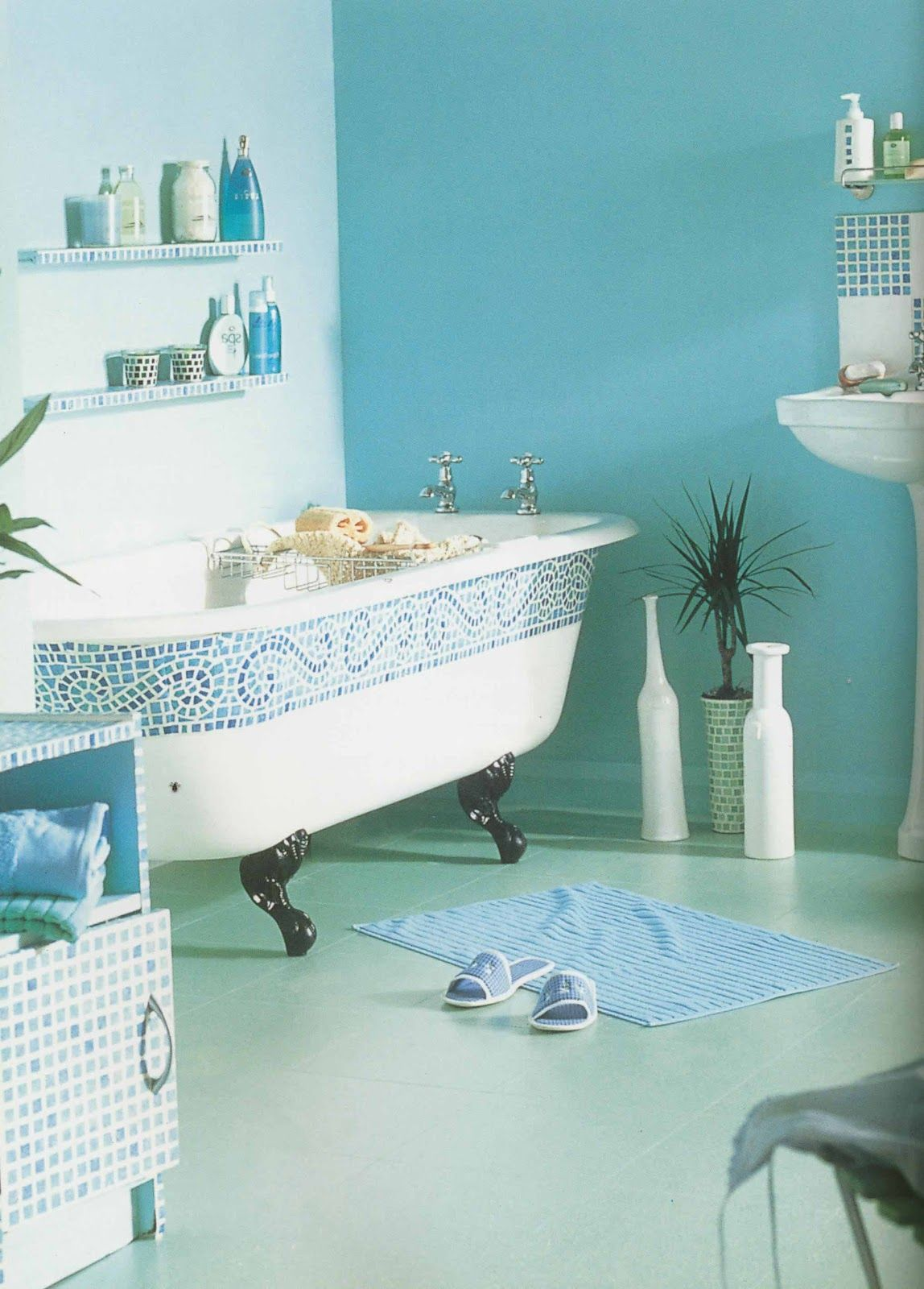 Turquoise bathroom turquoise pinterest turquoise for Aqua blue paint for walls