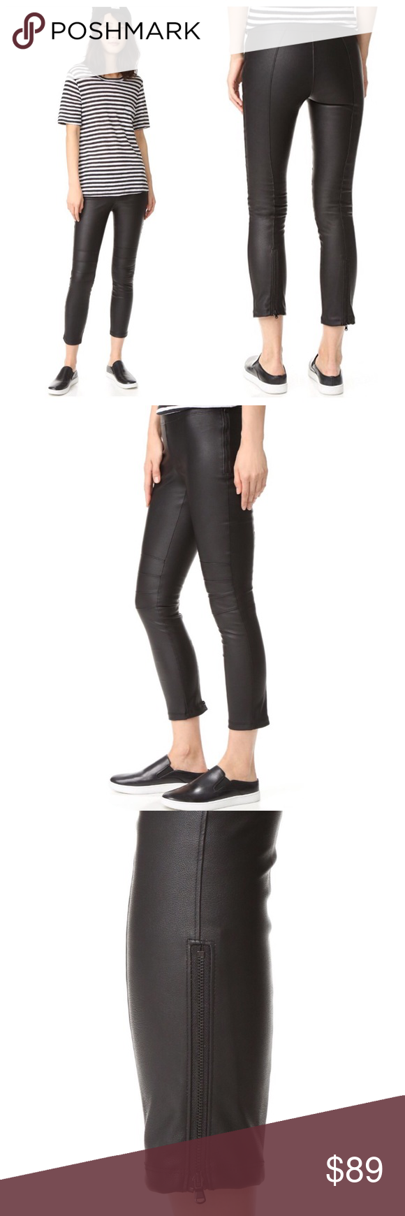 David Lerner Womens Moto Legging with Back Zip