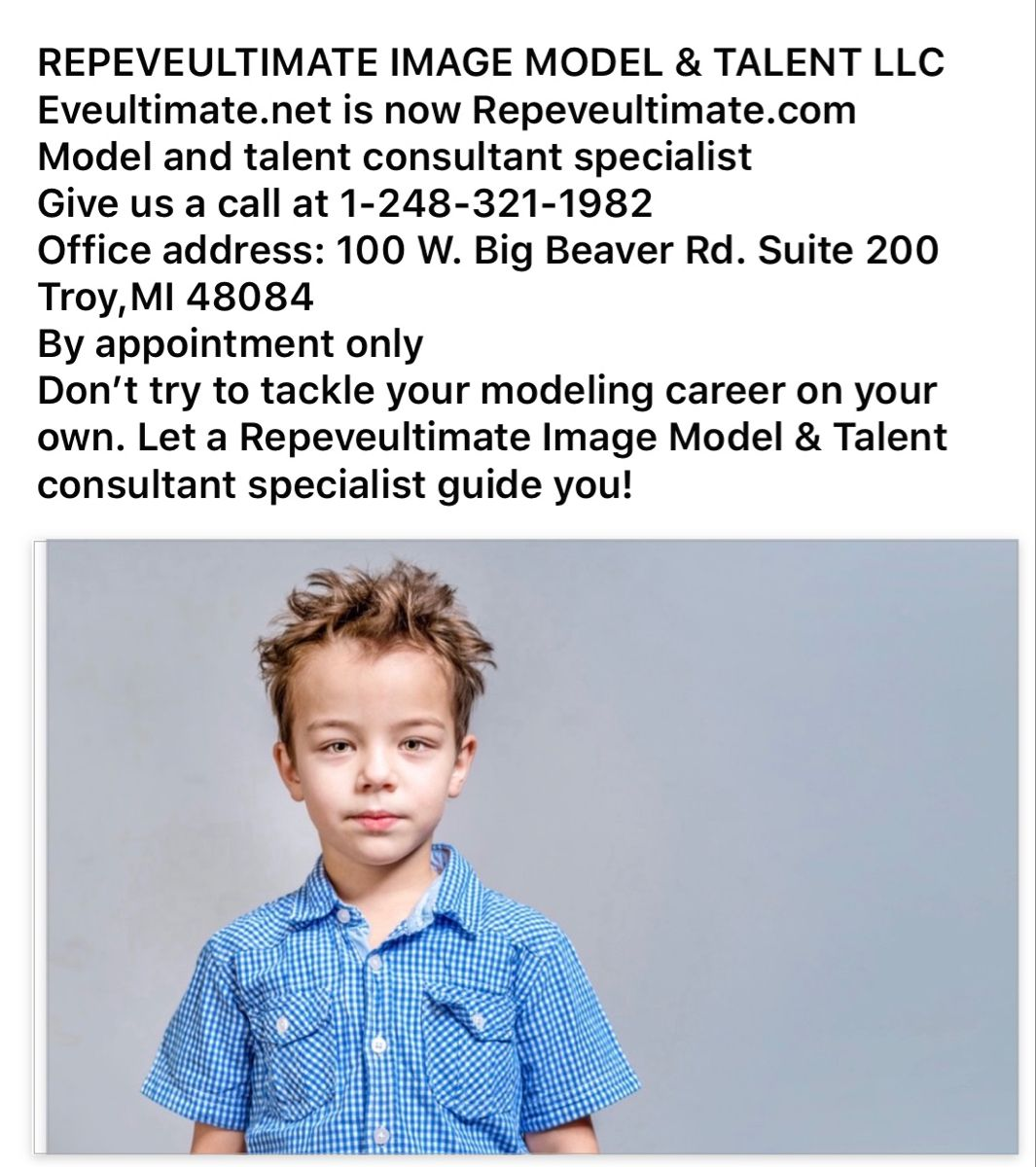 Repeveultimate Image Model & Talent LLC in 2020 Stylish