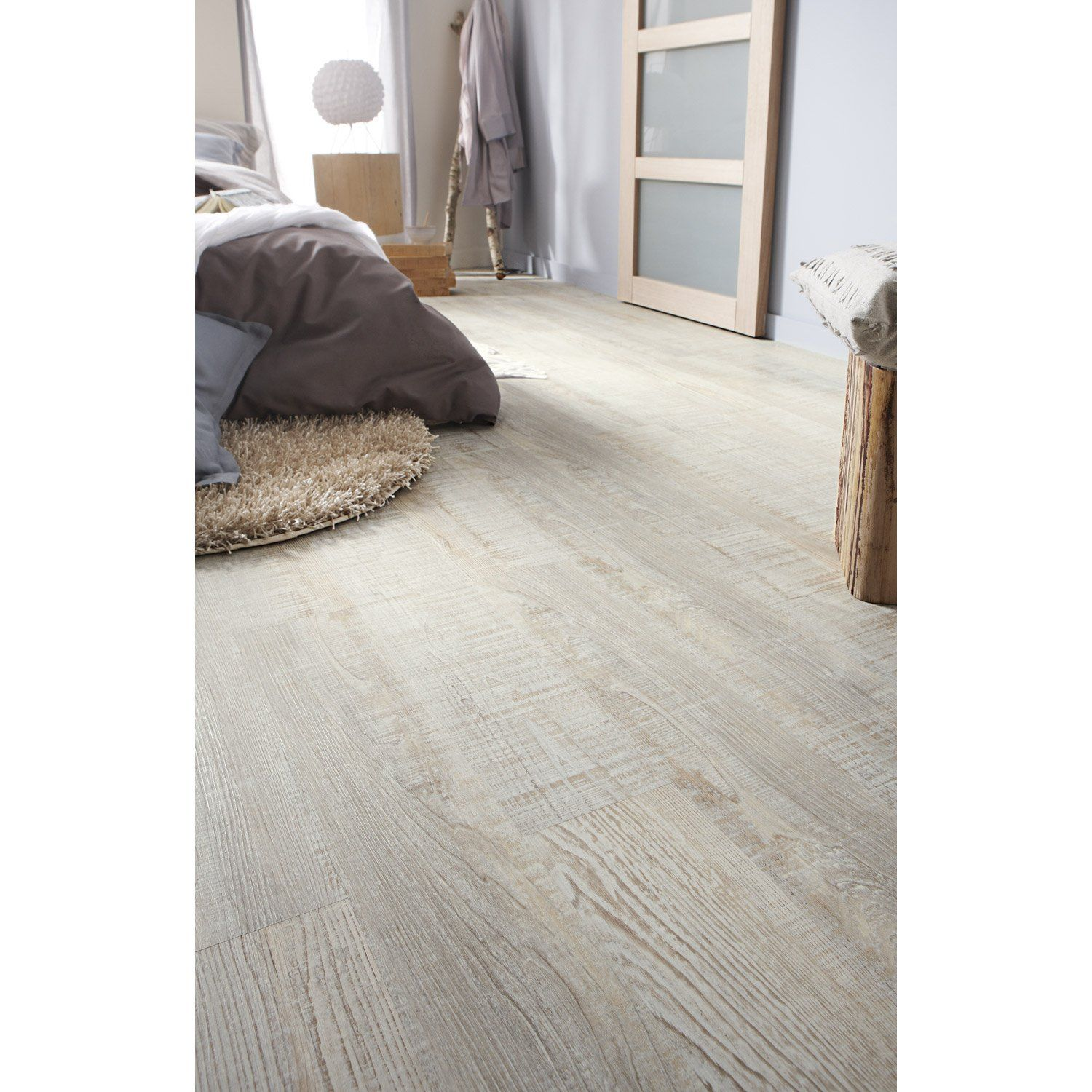 Lame Pvc Clipsable Marron Candelnut Senso Lock Gerflor Sol Pvc Parquet Pvc Meuble Chambre A Coucher