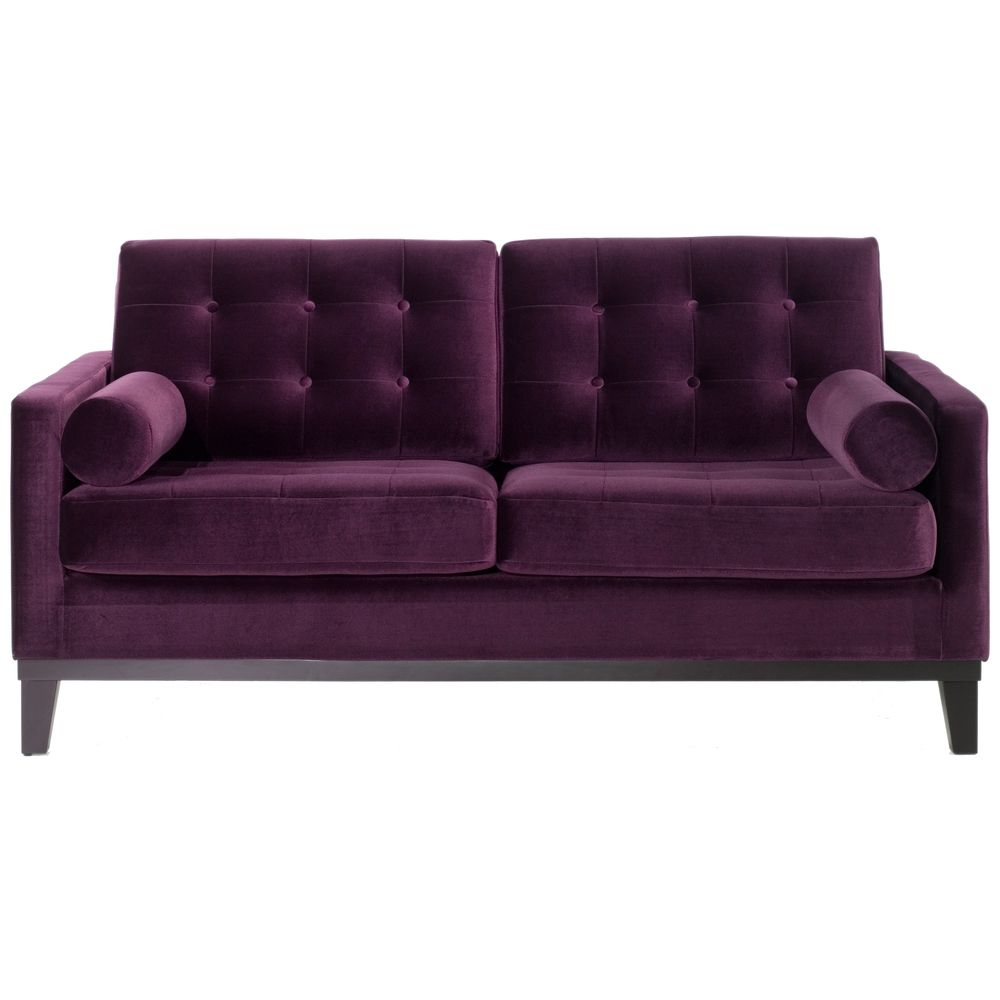 Modern Purple Velvet Loveseat   Overstock™ Shopping   Great Deals On Armen  Living Sofas U0026