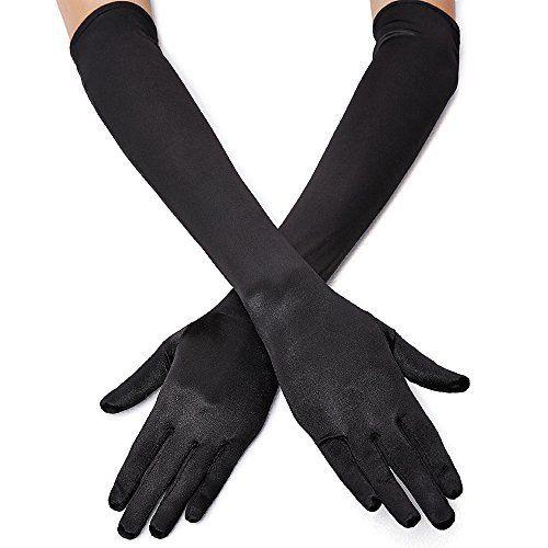 Short Satin Gloves Wrist Length Gloves Womens Gown Gloves Opera Wedding Banquet Dress Glove for Party Dance