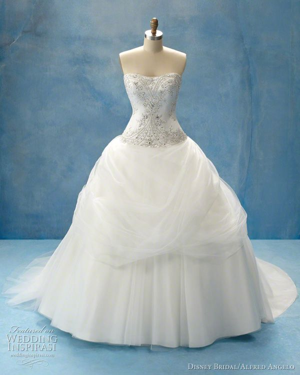 Disney fairy tale weddings by alfred angelo belle for Wedding dress disney collection