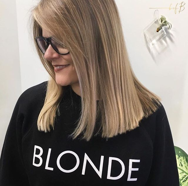 Blonde, Blunt & Brilliant look created by #bofbeducator @amberoharahair🙌