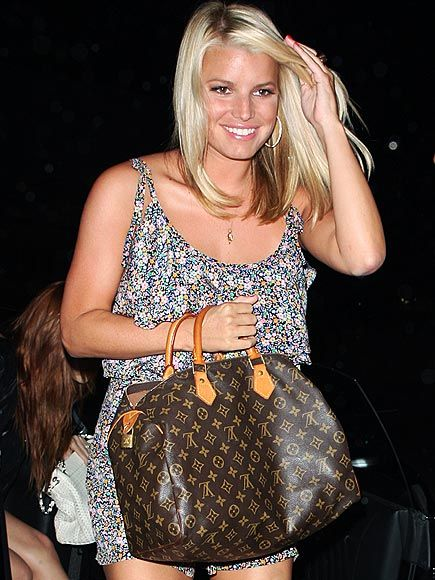 Jessica Simpsonpeople Jessica Simpson Hits The Town With Louis Vuitton