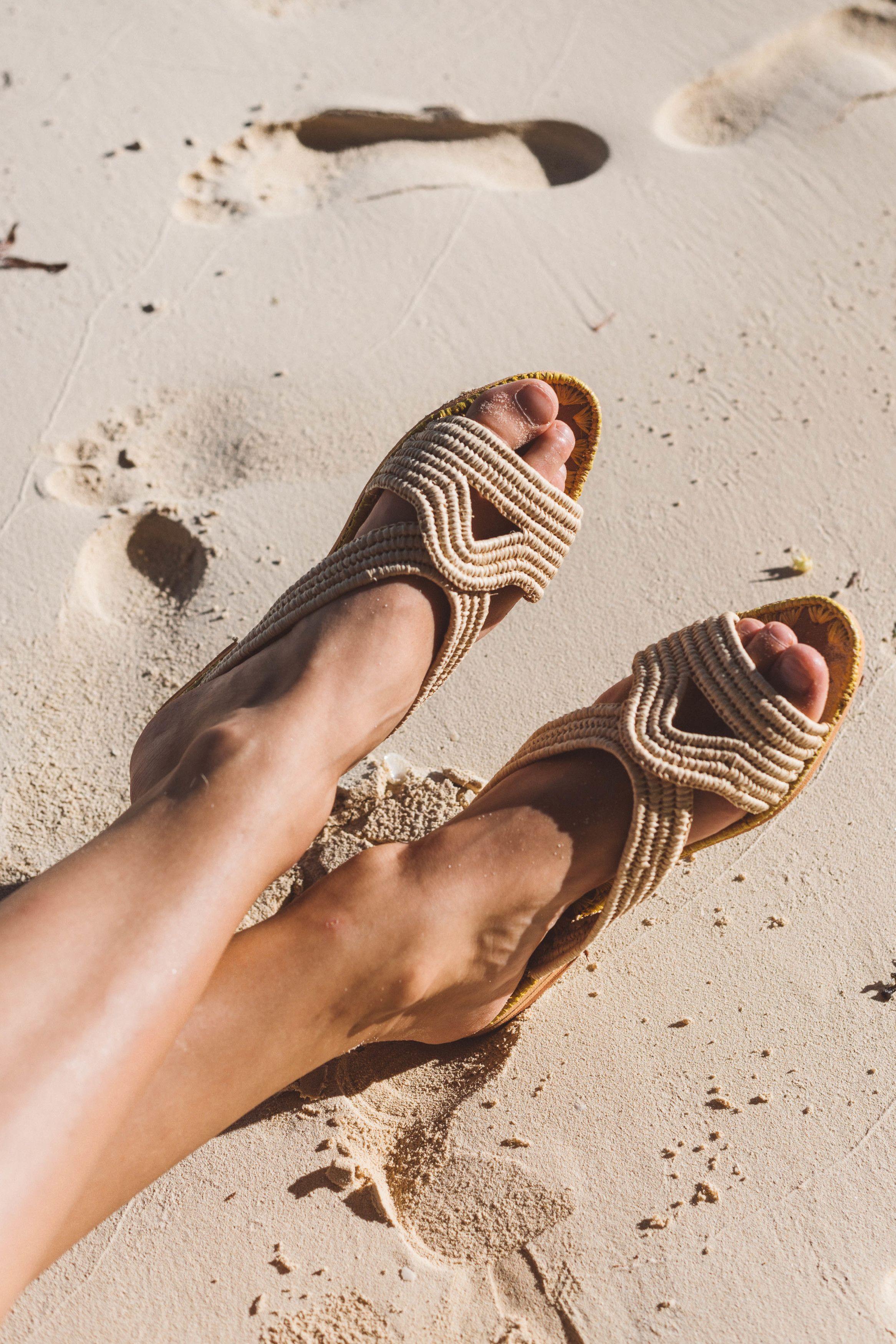 Rafia Handmade In Raphia ShoesNatural Sandals Sandy Feet And qMVpGSUz