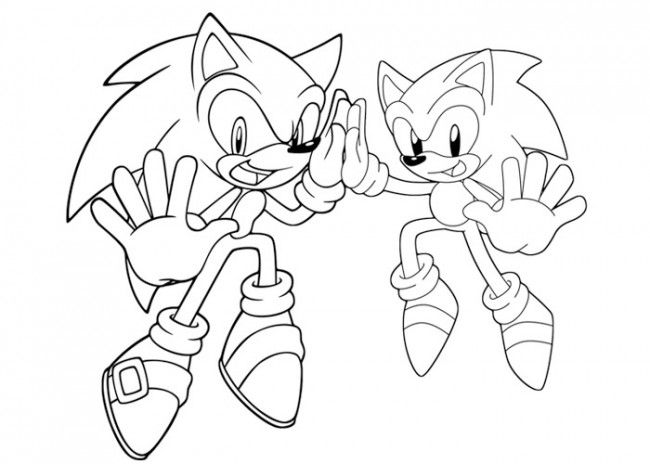 Sonic Coloring Pages Online ColoringSonic the Hedgehog Pinterest