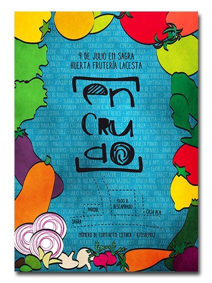 """Cartel para las jornadas gastronómicas """"En Crudo""""."""