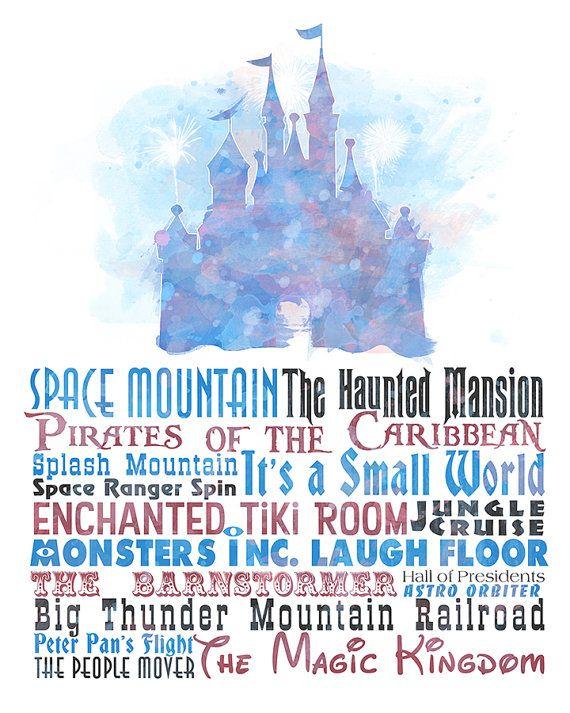 The Magic Kingdom 8x10 Printable Poster Digital Instant Etsy In 2020 Disney Posters Disney Magic Kingdom Magic Kingdom