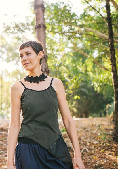 Patsy top olive – Sustainable Fashion