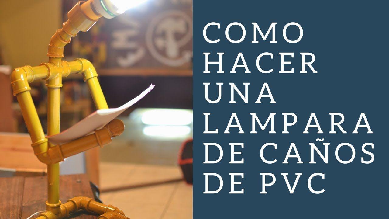 COMO HACER UNA LAMPARA CON CAÑOS PVC /pvc pipe ♥ - EMPODERADAS DIY ...