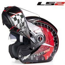 LS2 FF370 Flip Up Motorcycle Helmet Modular With Double Helmet Glass Black Sunny Visor capacetes para moto Racing Helmet jet 8999 USD 4200 OFF