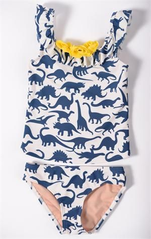 bf6cf5f2c5 T-Rex Tankini for little girls. Ellie needs this cute little thing!! $27.99