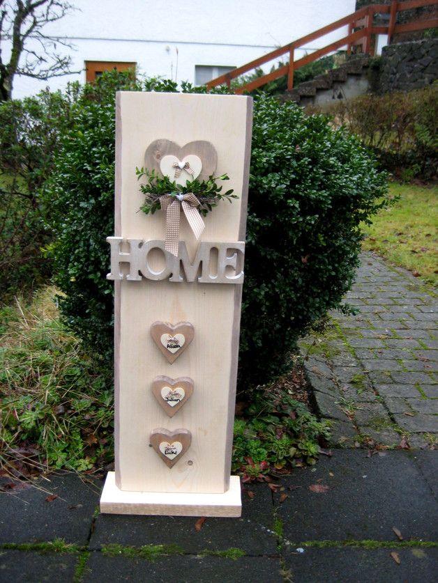 Photo of Hjemme dekorasjon – XXL dørskilt dekorativ kolonne med navnet på familien – en designer …