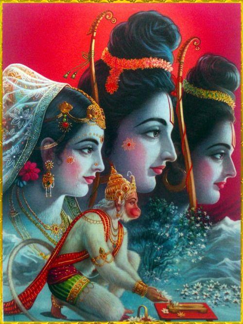"☀ Sita Ram Lakshman Hanuman ॐ ☀Artist: P Sardar""Wherever"