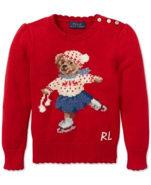 1c3f0113bc38 Polo Ralph Lauren Little Girls Holiday Bear Sweater - Park Avenue ...