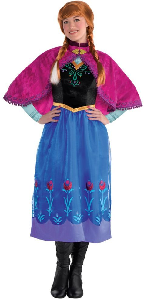 adult anna costume frozen party city