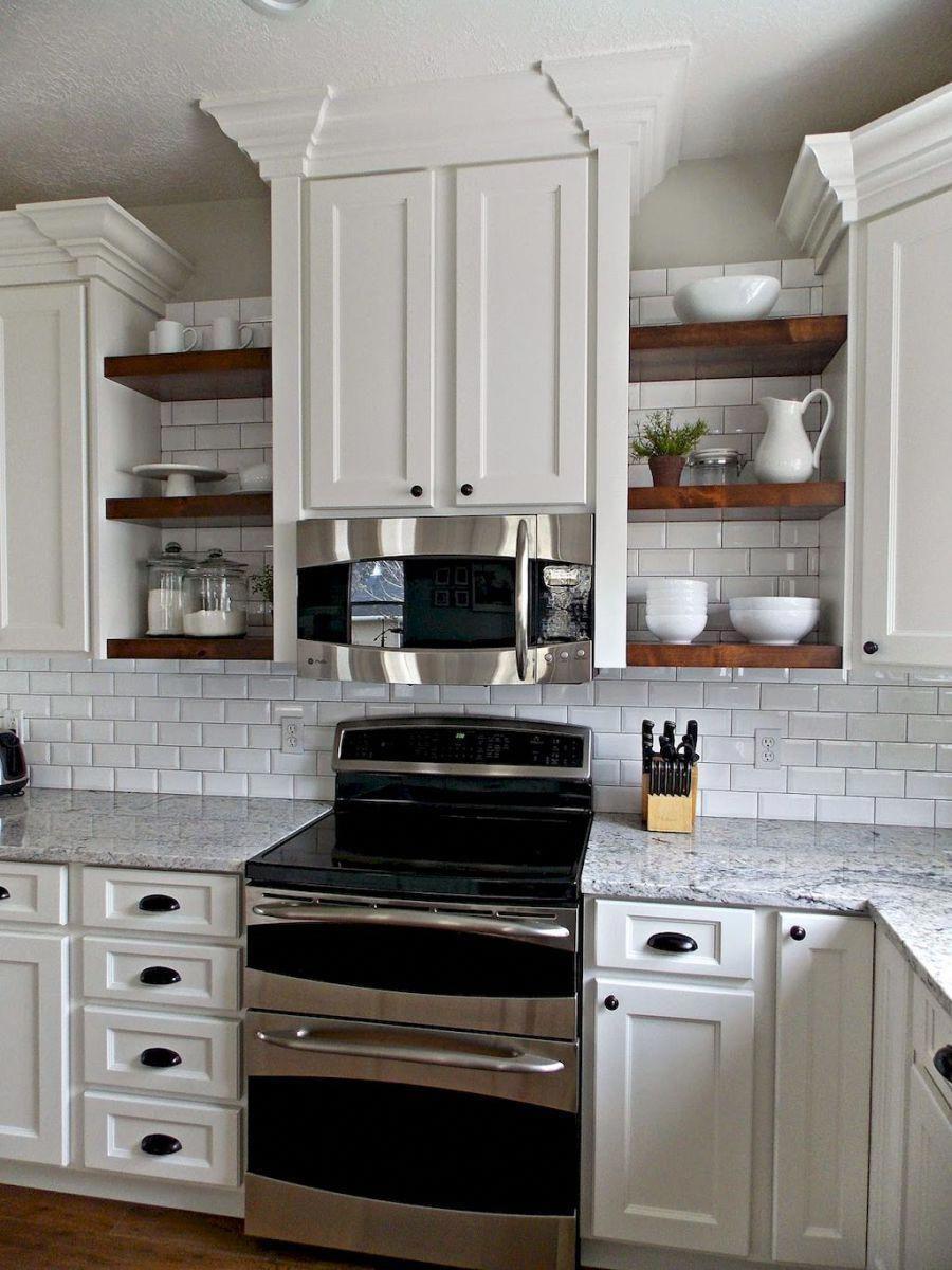 Diy Kitchen Open Shelves Ideas 24 Rusticdecoratingkitchenideasopenshelves Kitchen Cabinets Before After Kitchen Remodel Kitchen Design