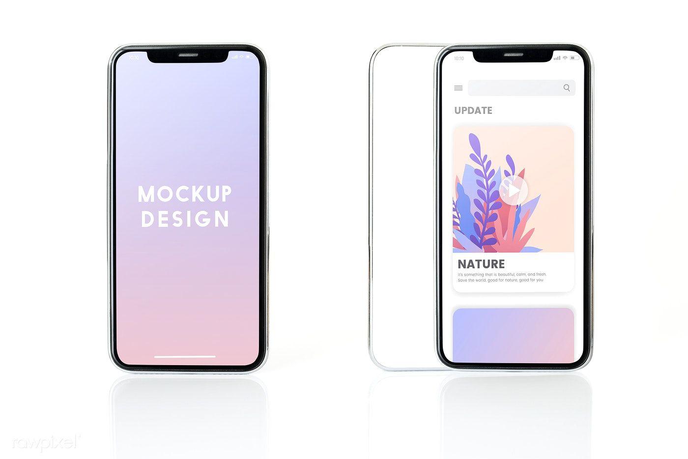 Download Download Premium Psd Of Full Screen Smartphone Mockup Design 524134 Mockup Design Iphone Mockup Smartphone