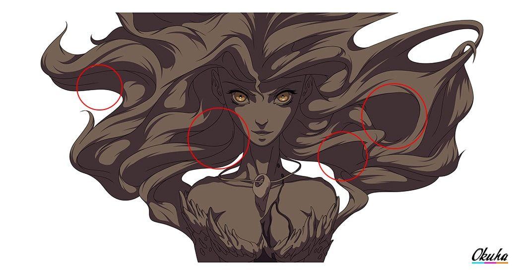 How To Cel Shade Hair Step By Step Guide Manga Drawing Tutorials Manga Drawing Drawings