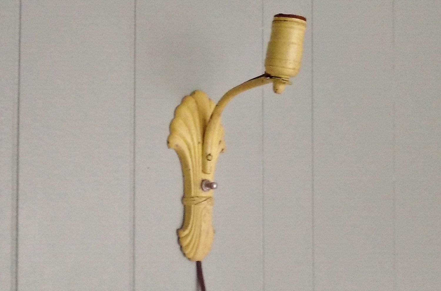 Art deco light fixture wall lamp works country french cottage