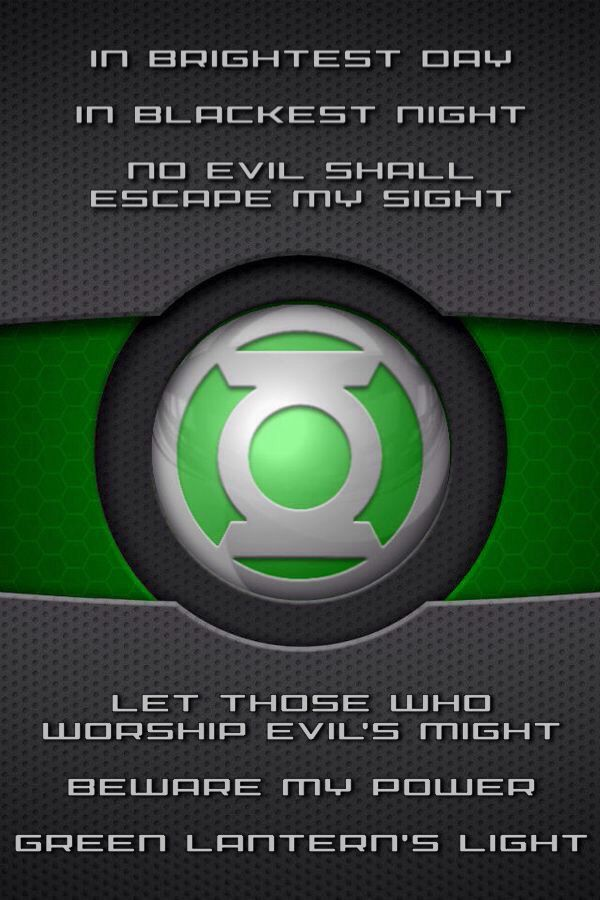 Green Lantern oath and symbol (wallpaper) | Green lantern ...