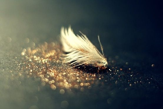Gold and Glitter Dipped Feathers..