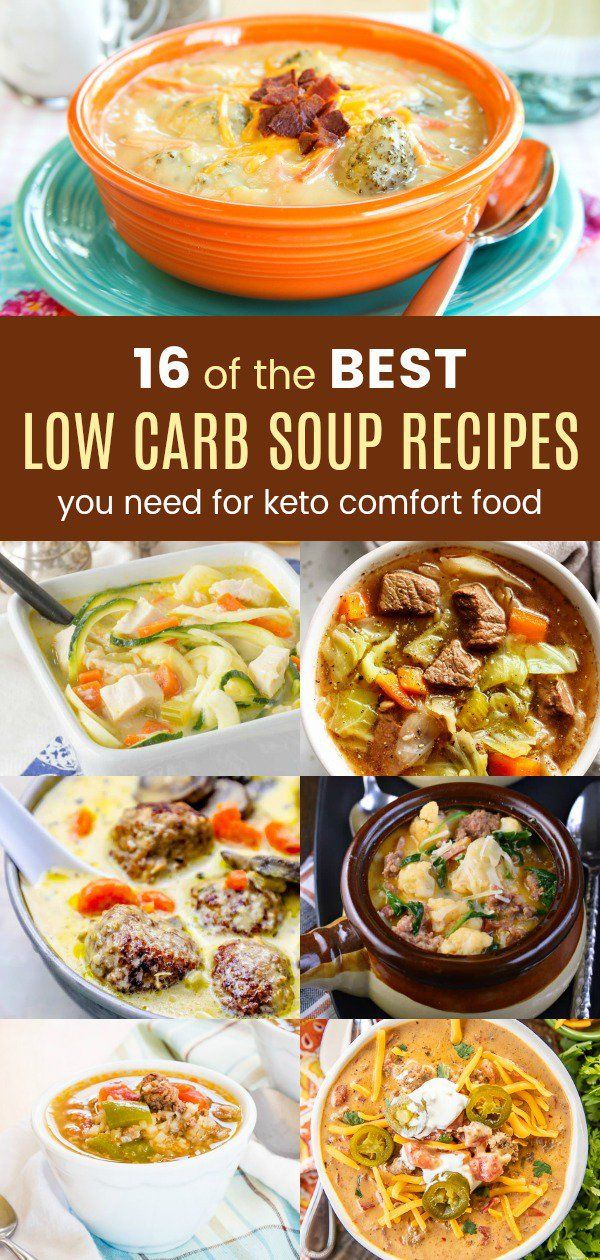 16 of the Best Low Carb Soup Recipes You Need for Keto Comfort Food images
