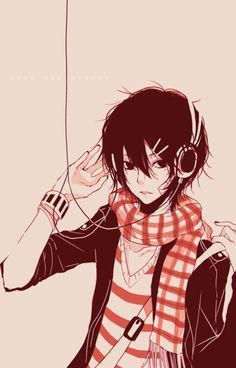 Anime Guy With Hoodie And Headphones Google Search Anime Guys Cute Anime Guys Anime
