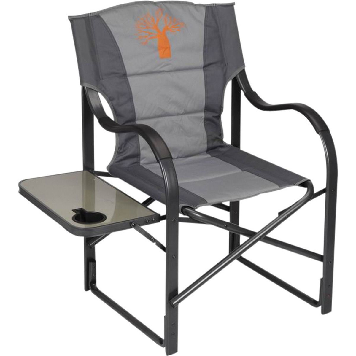 Camping Directors Chair Boab Deluxe Directors Chair Grey Alloy Frame 120kg