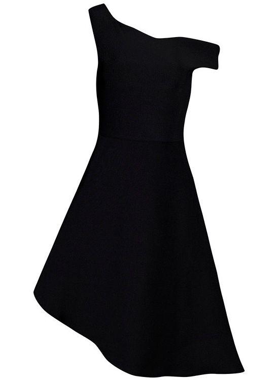Dream it Wear it - Asymmetrical Midi Skater Bandage Dress Black, £79.95 (http://www.dreamitwearit.com/bandage-dresses/asymmetrical-midi-skater-bandage-dress-black/)