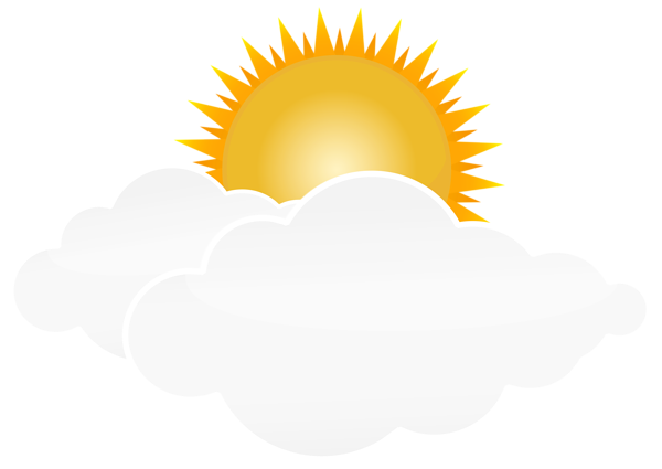 Sun With Clouds Png Transparent Clip Art Image Sun And Clouds Cloud Drawing Cloud Illustration