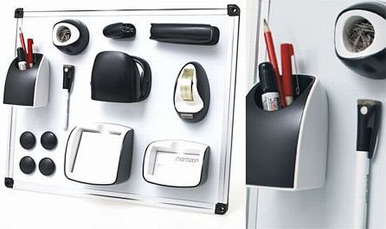 Office cubicle accessories Feng Shui Desk Cubicle Office Accessories Office Set Helps You Stick Your Office Supplies To Your Cubicle Wall Pinterest Magnetic Office Set Helps You Stick Your Office Supplies To Your