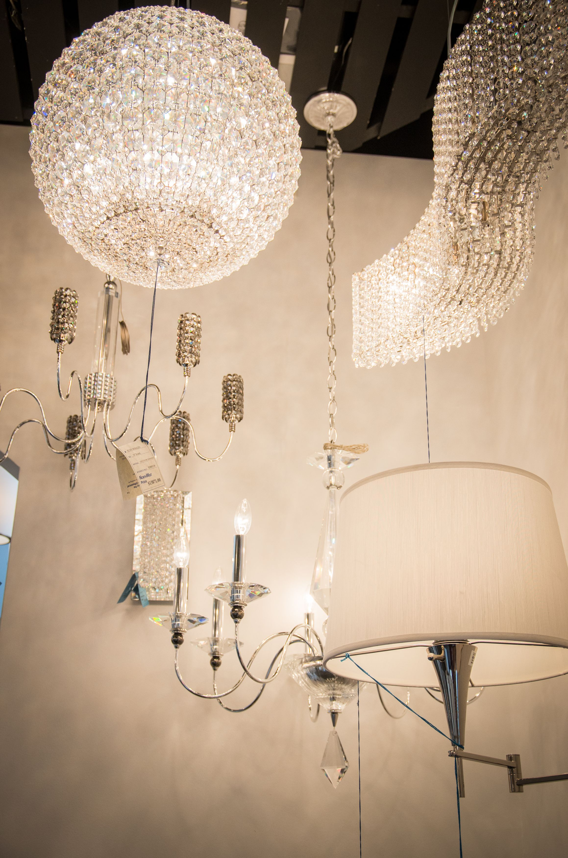 Contemporary Lighting By Swarovski Crystal Featuring The Davinci Led Color Changing Ball Geometrix Chandeliers And Refrax